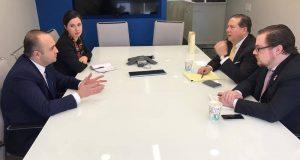 შალვა კიკნაველიძემ ვაშინგტონში IRI-სა და USAID-ში შეხვედრები გამართა