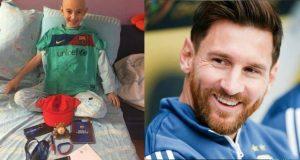 ოცნებები ხდება! ლეიკემიით დაავადებულმა ქართველმა ბიჭუნამ მესისგან საჩუქრები მიიღო