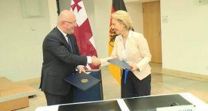 საქართველოსა და გერმანიას შორის სამხედრო სფეროში თანამშრომლობის შეთანხმება გაფორმდა